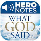 What God Said Hero Notes App Icon